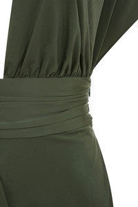khaki madame dress