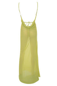 vacay dress in lime