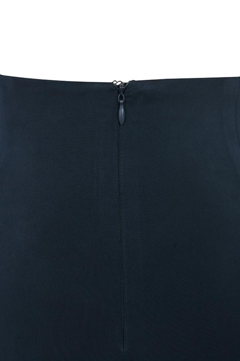 at ease navy skirt
