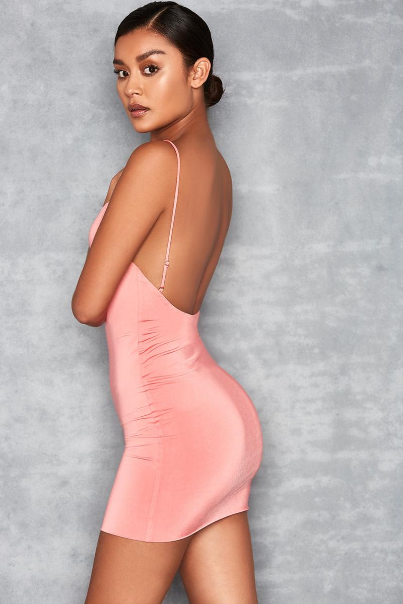 Cosmopolitan Pink Backless Mini Dress