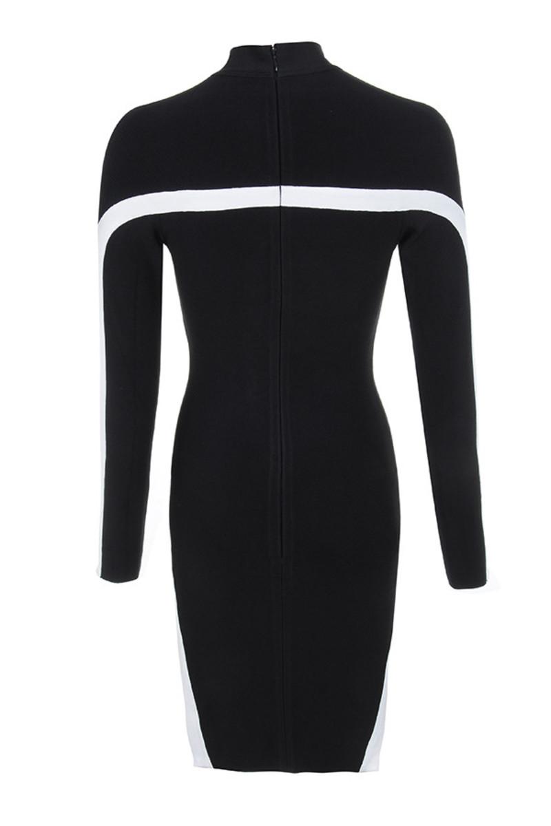 black dejavu dress