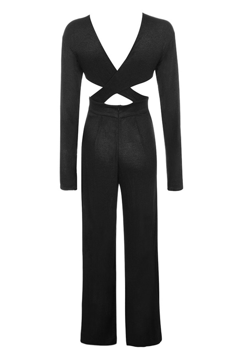 hold me jumpsuit in black