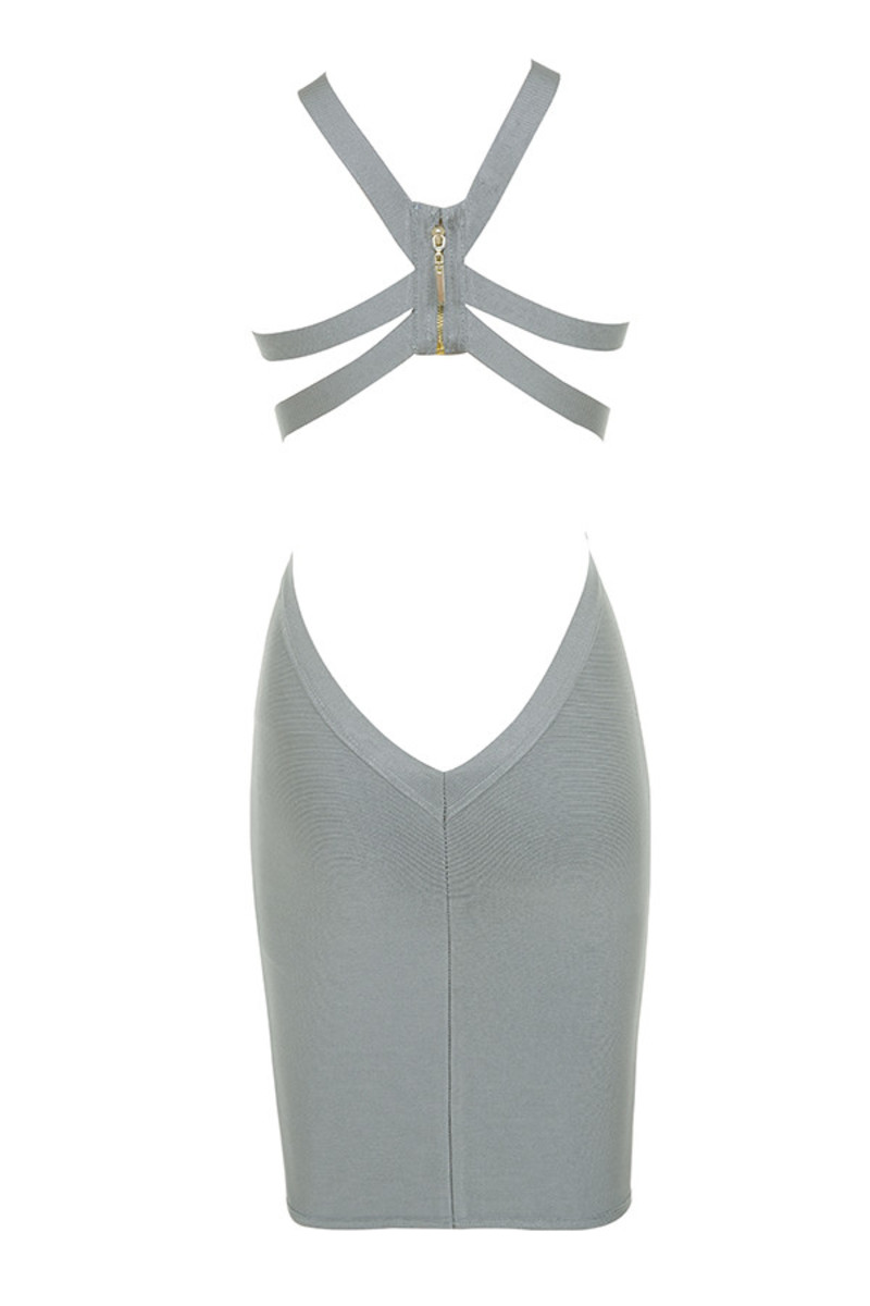 lavish dress in grey