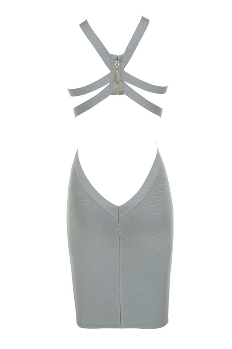 lavish dress in grey
