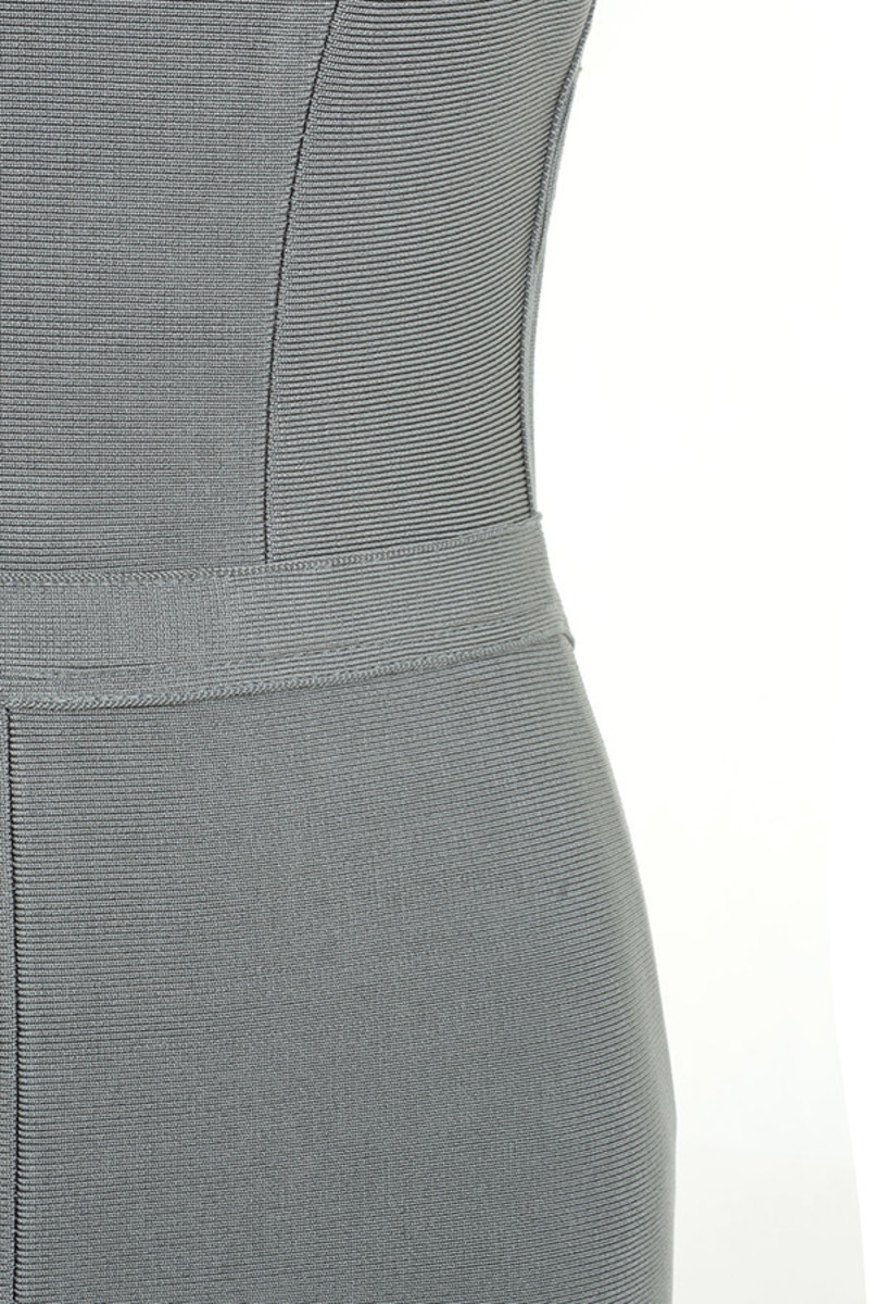 grey lavish dress