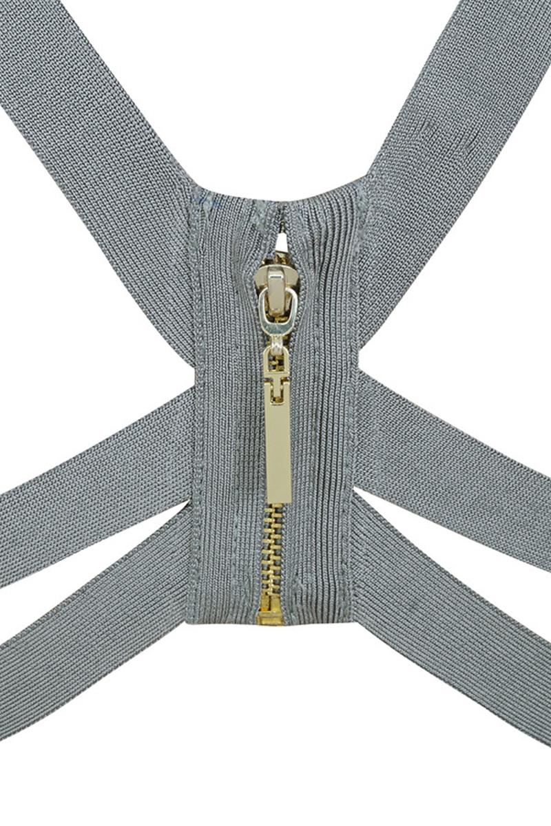 lavish grey dress