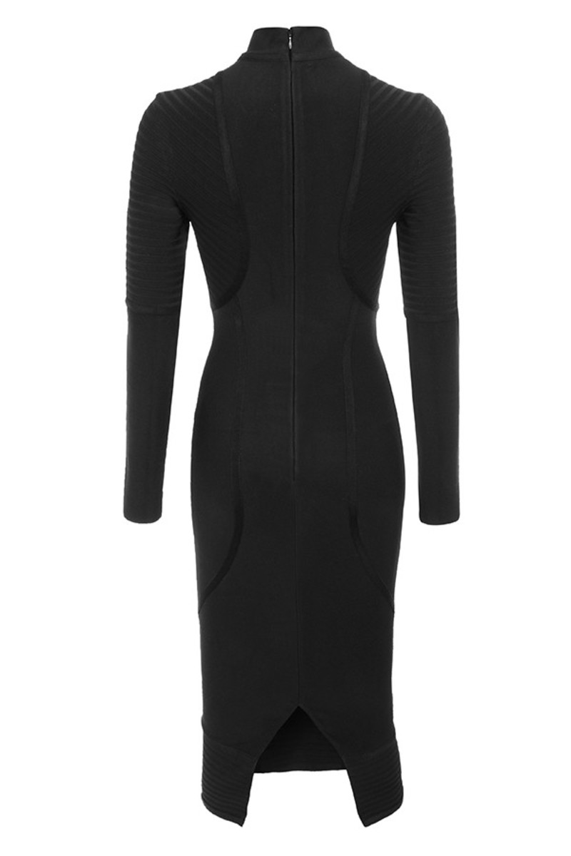 machismo dress in black
