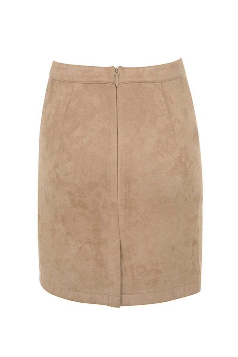 moves skirt in tan