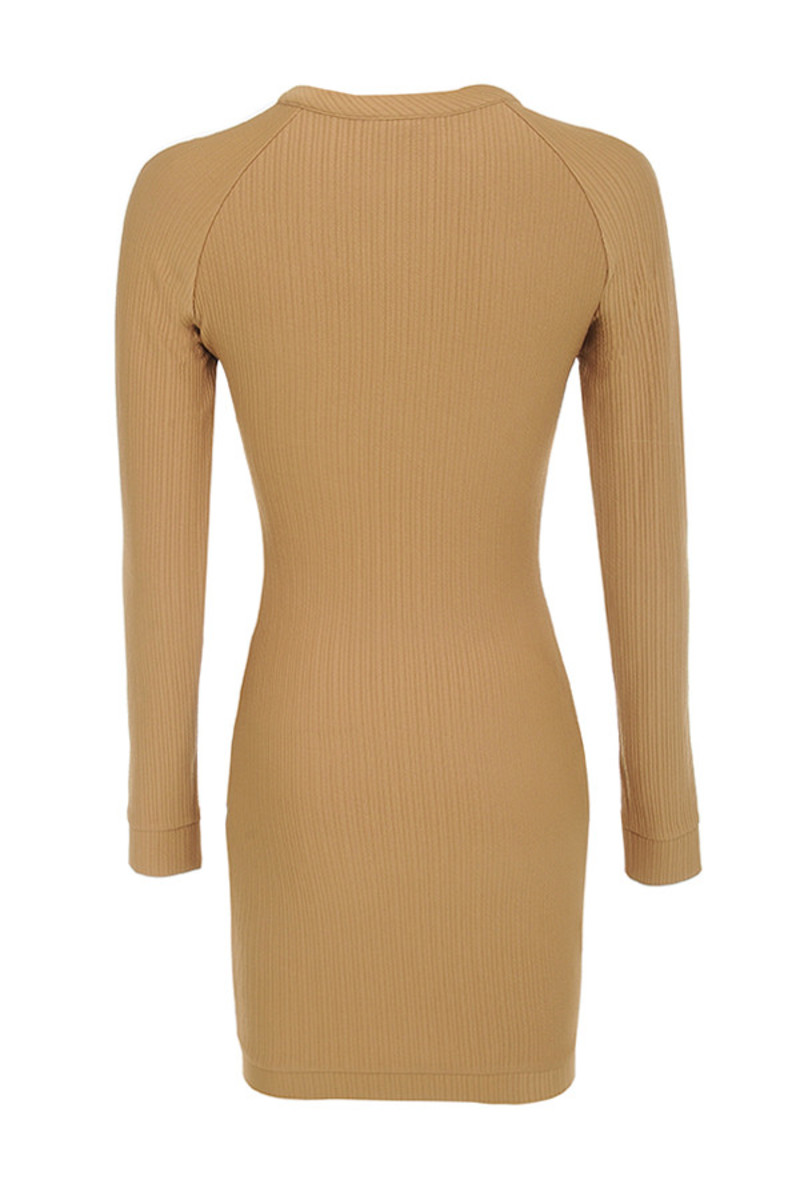 shameless dress in brown