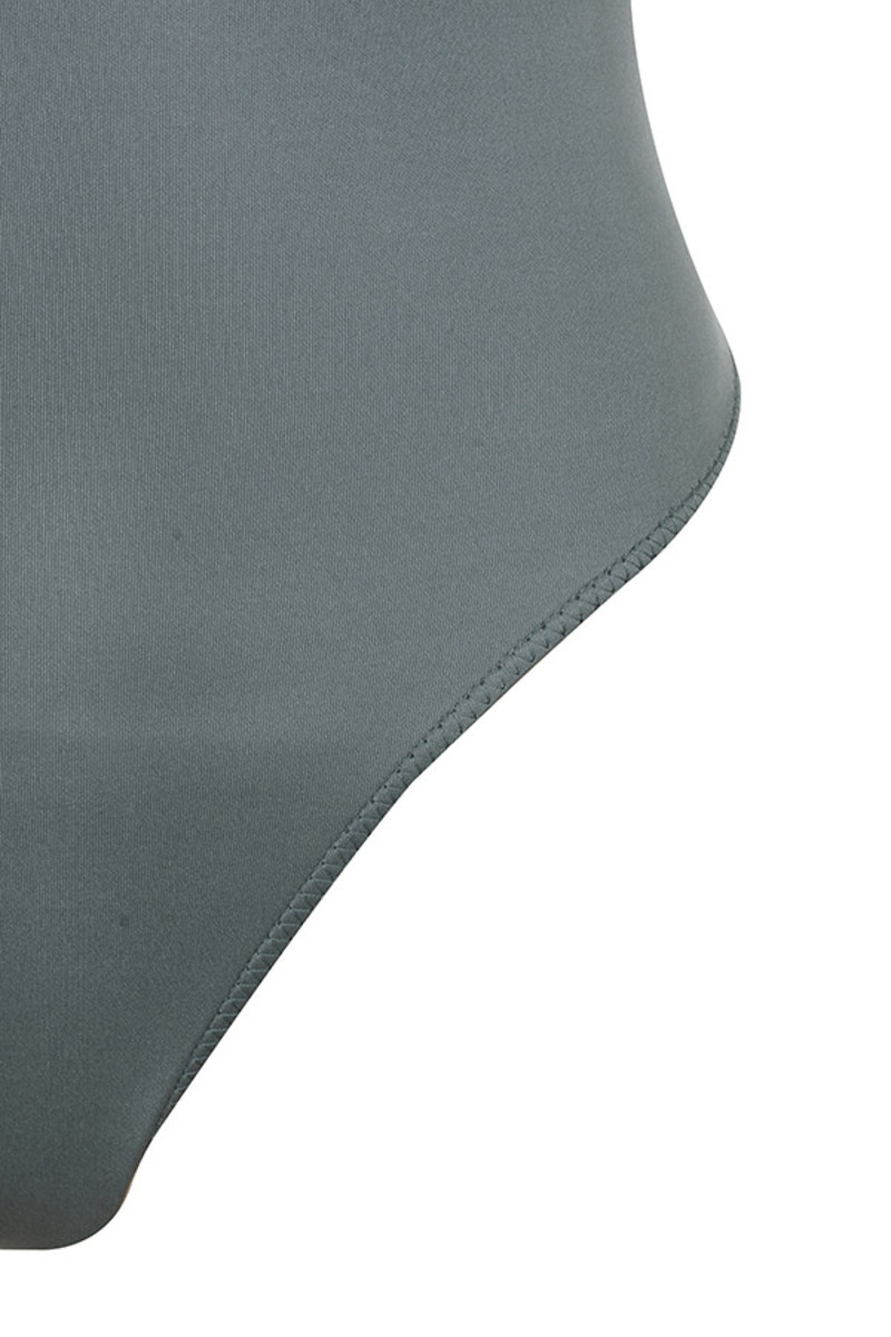 grey smackdown bodysuit