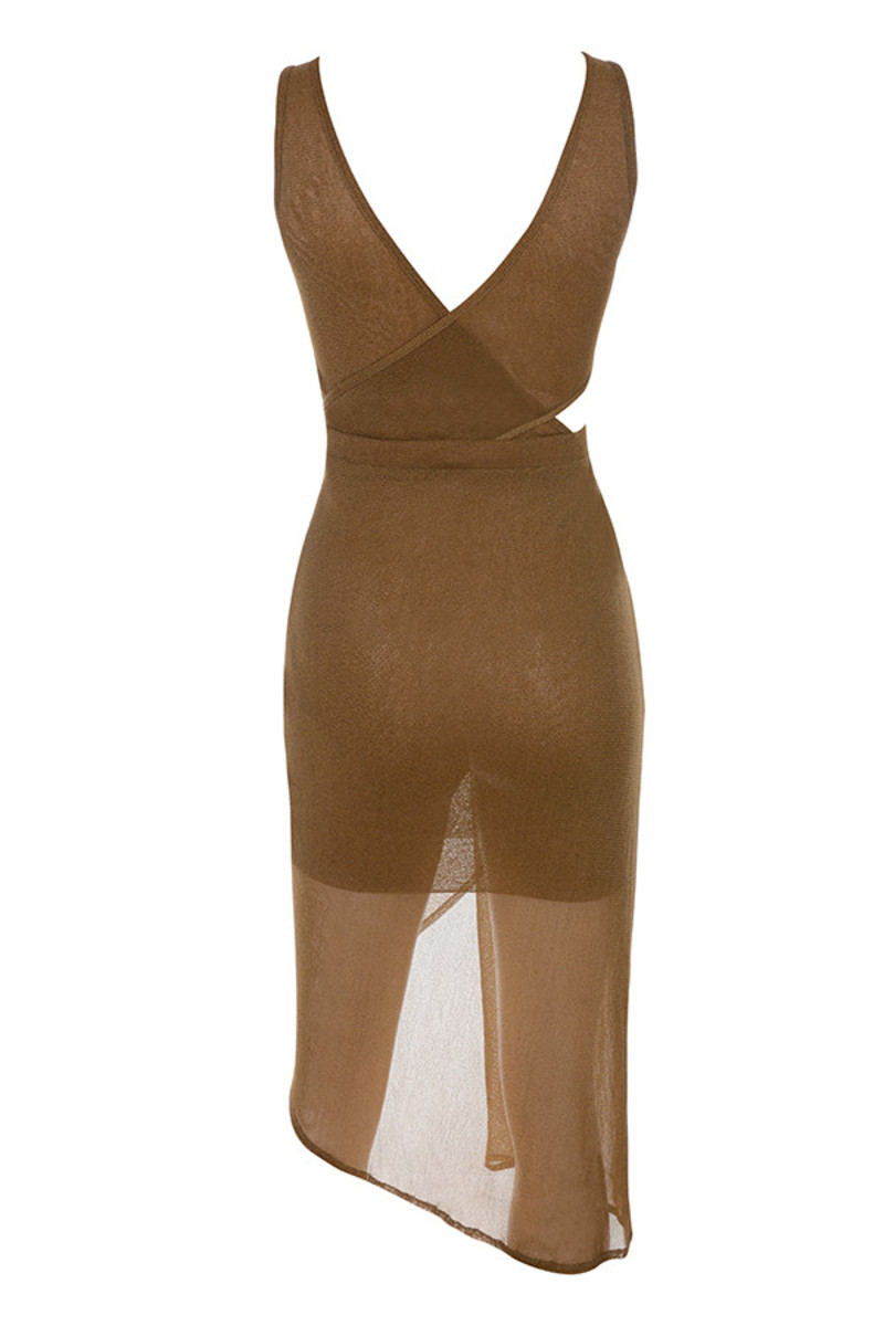 ultra dress in brown