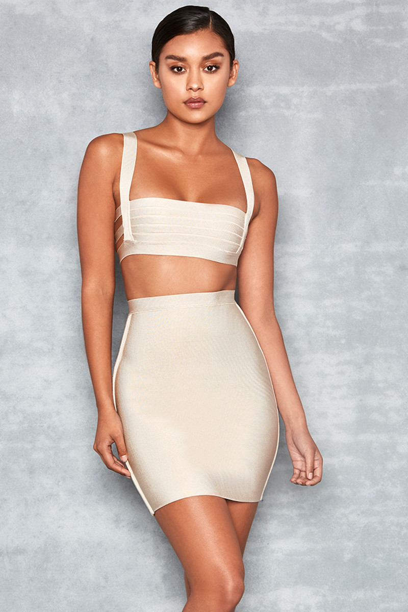'Boss Baby' Stone Bandage Mini Skirt