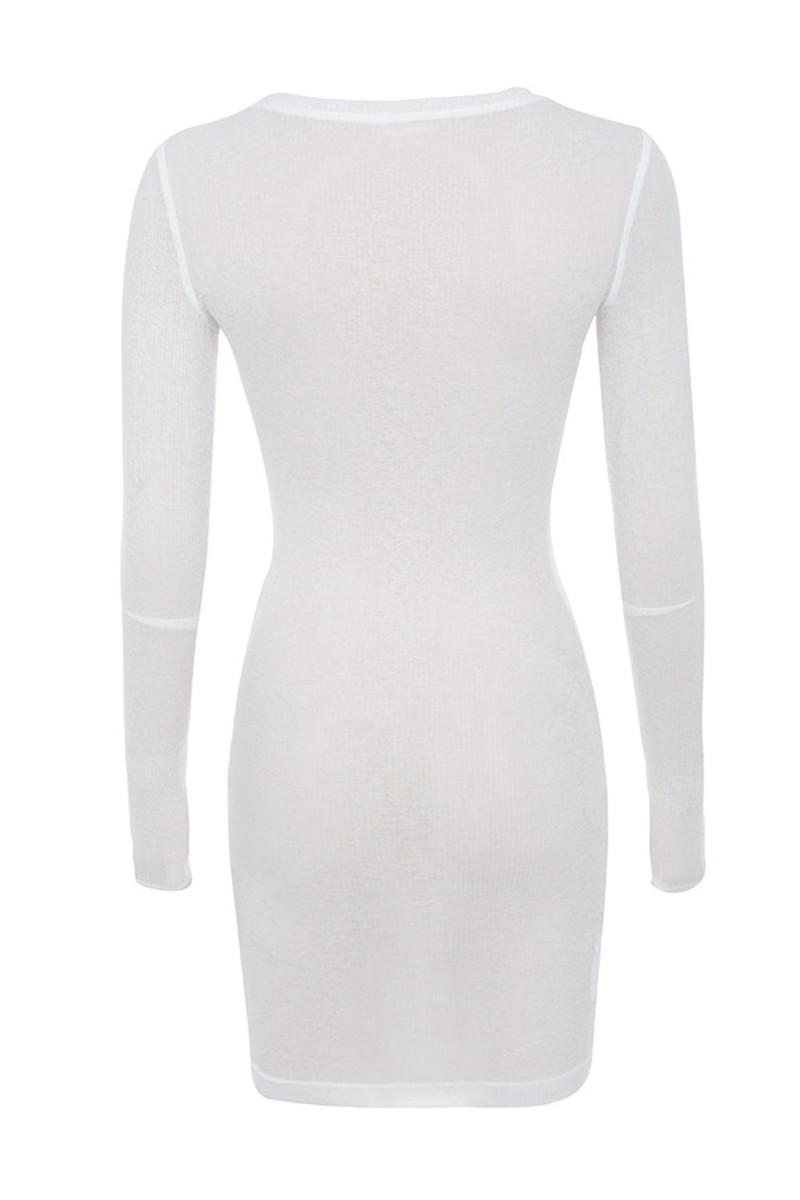flirtation dress in white