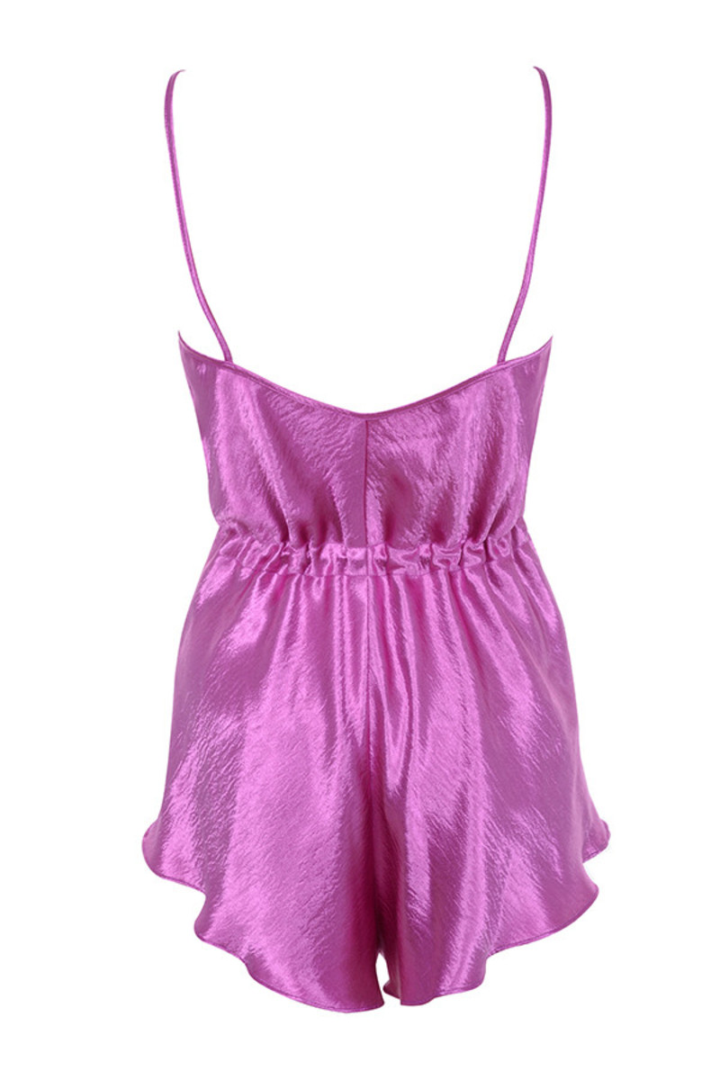 mirage romper in fuschia