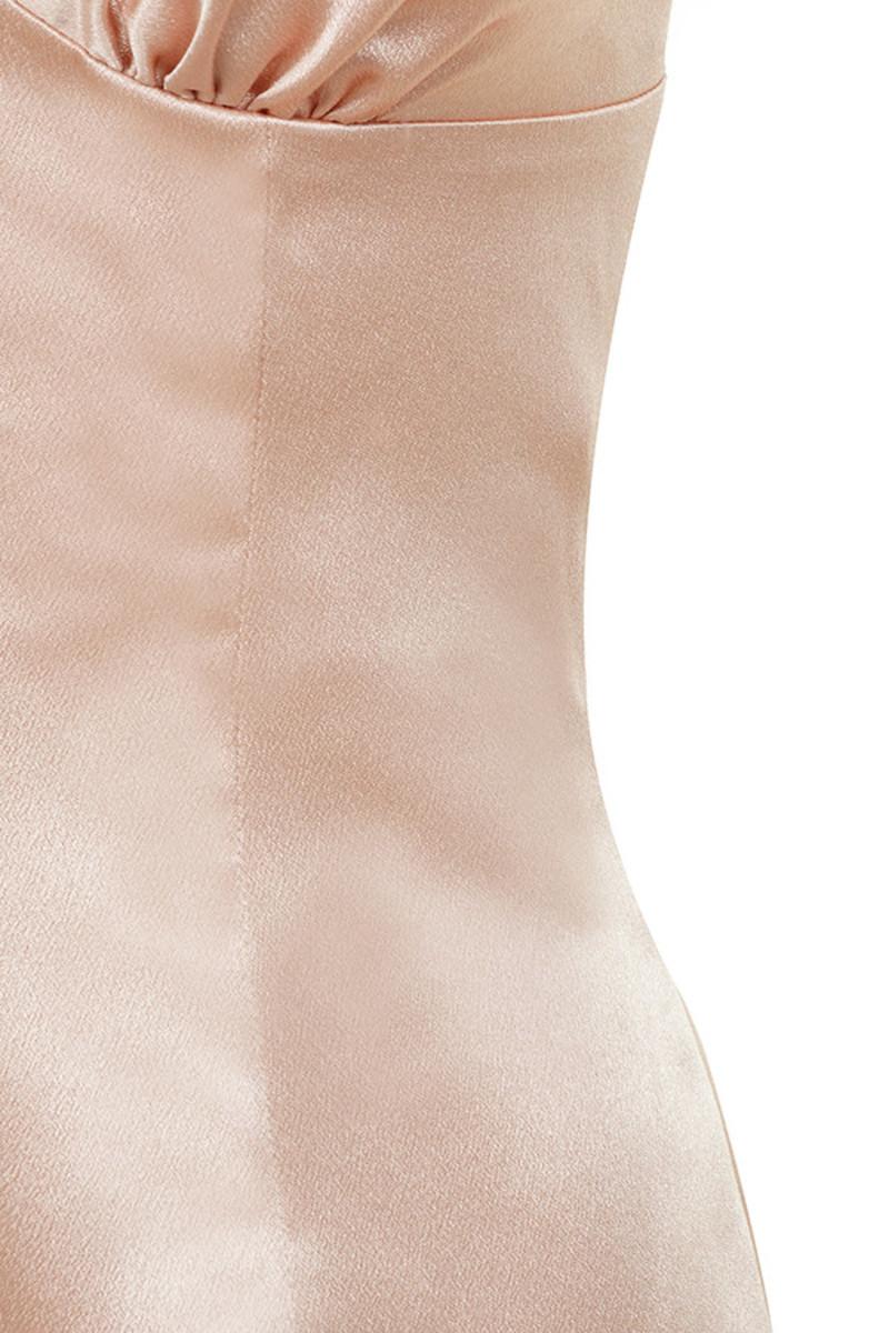 metallic pink she wolf dress
