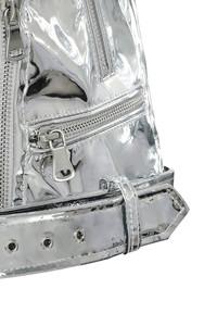 black label jacket in silver