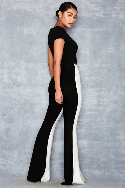 Faithful Black + White Bandage Trousers