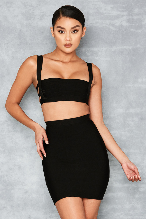 Boss Baby Black Bandage Mini Skirt