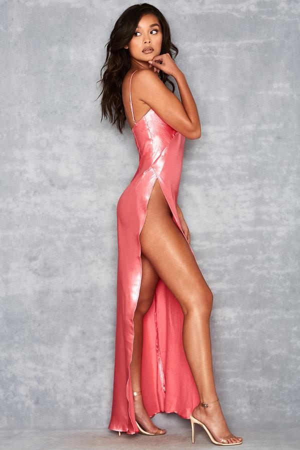 Simplicity Pink Slinky Maxi Dress
