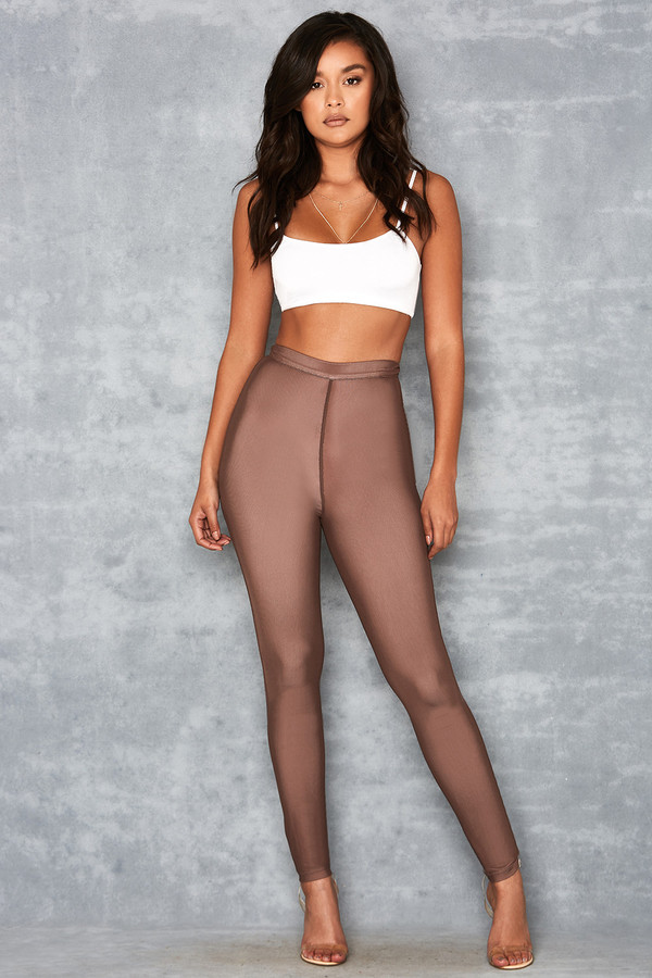 Waternymph Chocolate Mesh Overlay Leggings