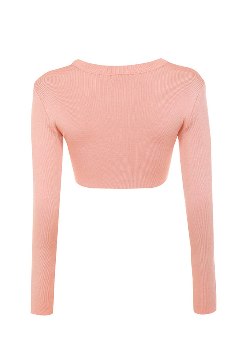 amused top in salmon