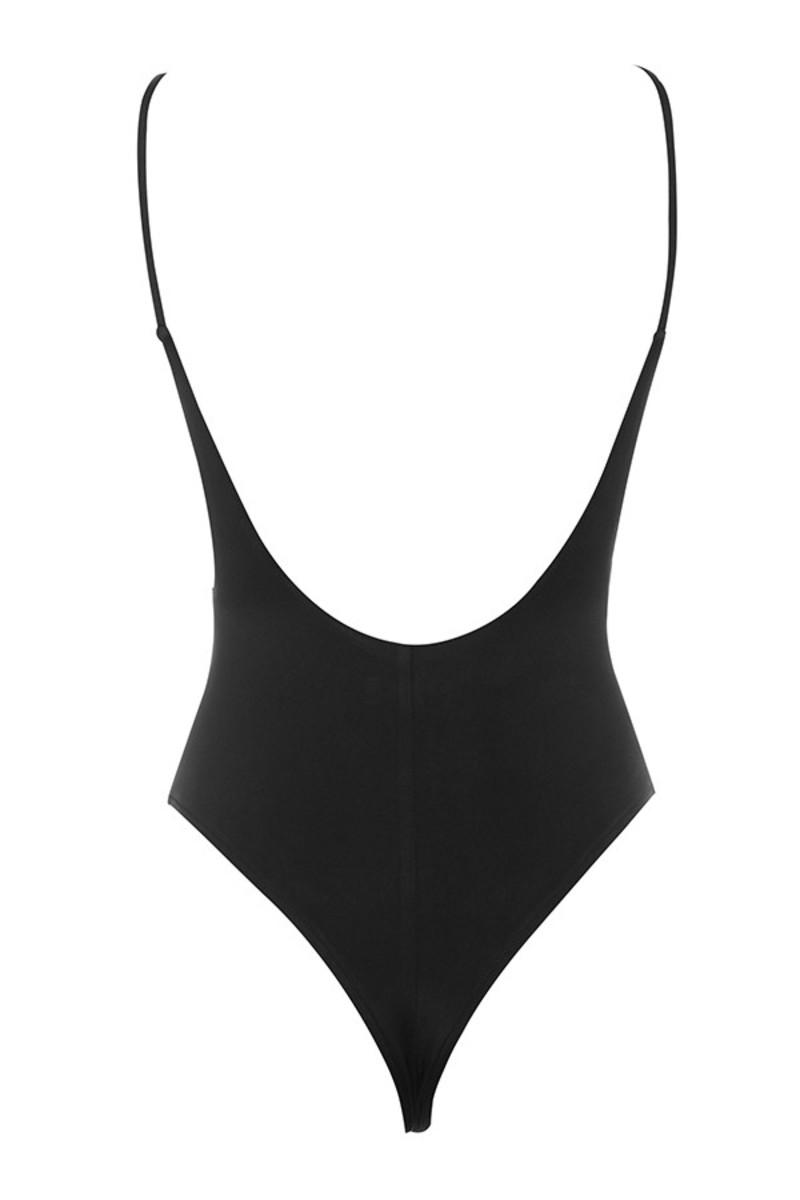 deviate bodysuit in black