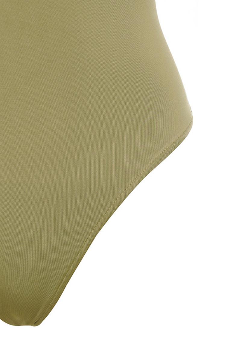 khaki deviate bodysuit
