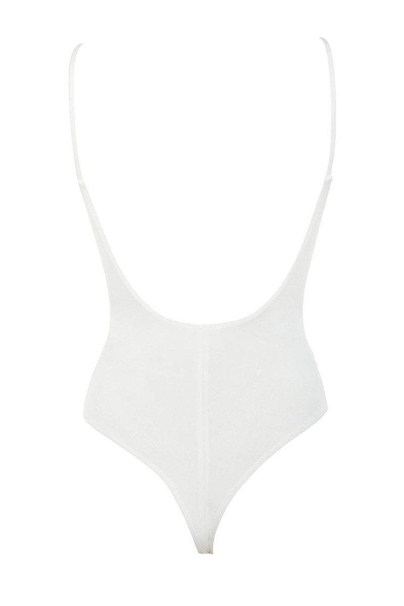 deviate bodysuit in white