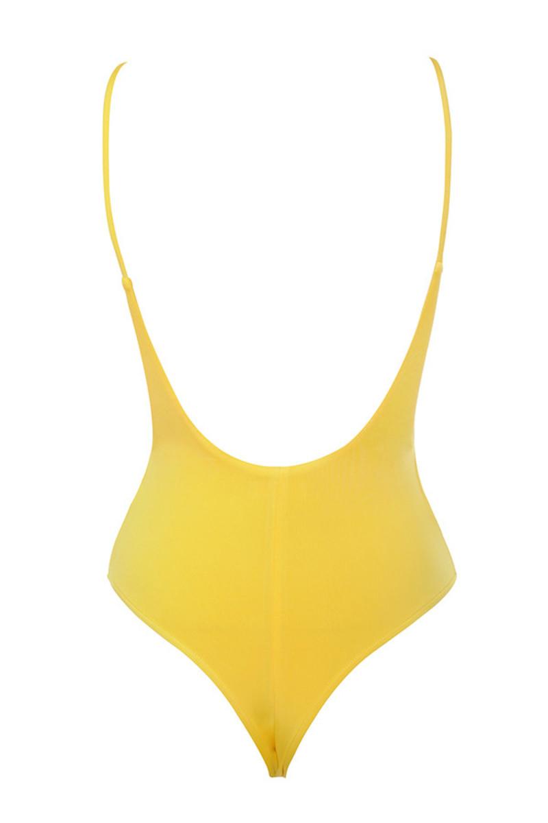 deviate boysuit in yellow
