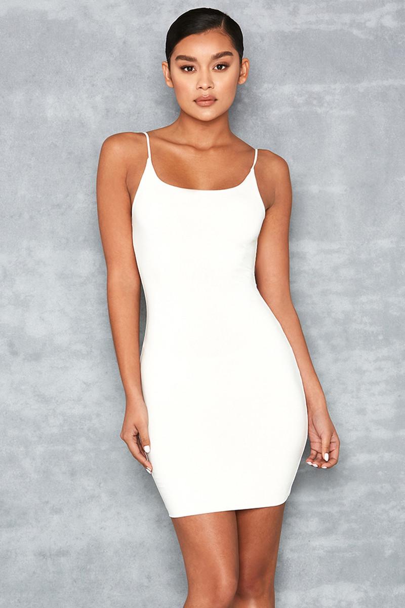 Justice White Jersey Mini Dress