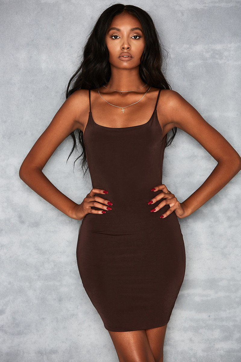 Justice Chocolate Jersey Mini Dress