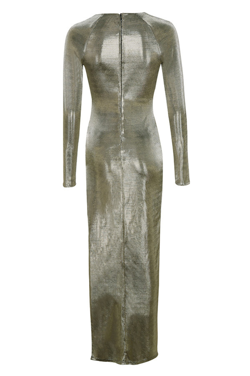 ministry dress in metallic