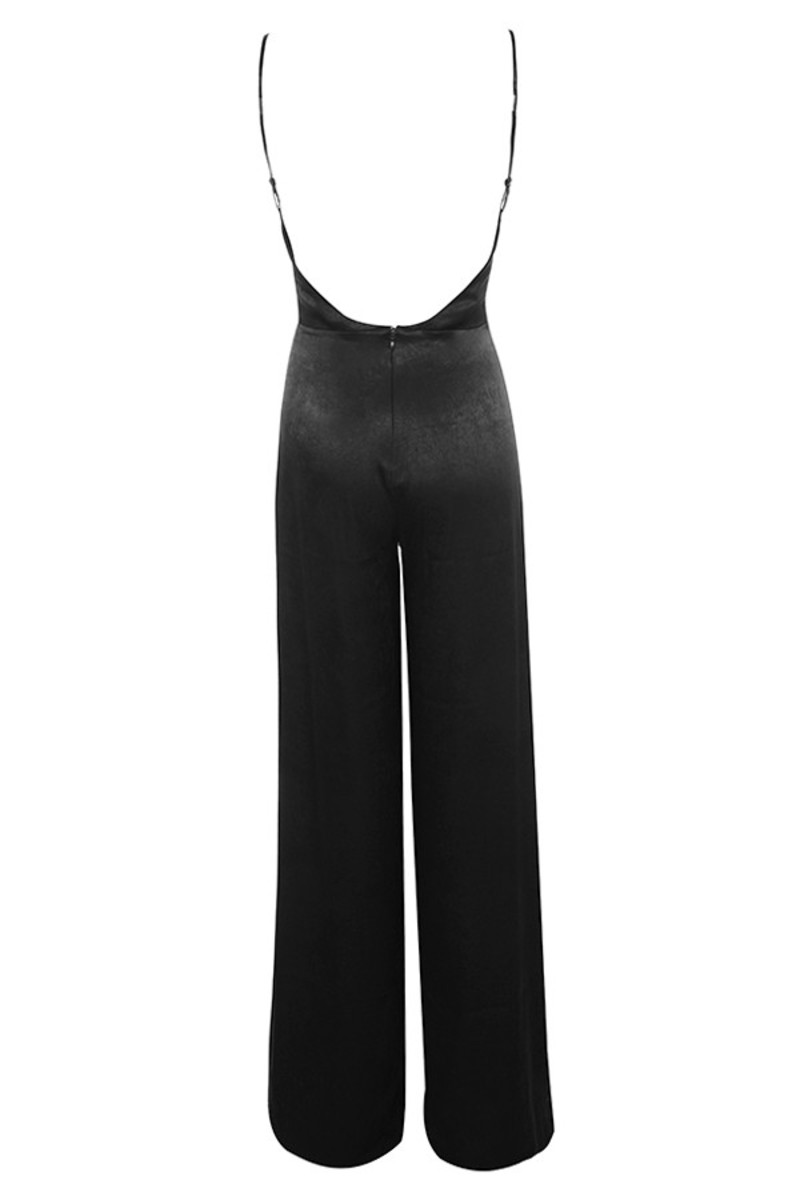 serve it jumpsuit in black