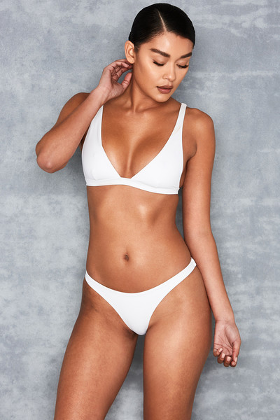 Rangoon White' Ultra Plunge Triangle Bikini