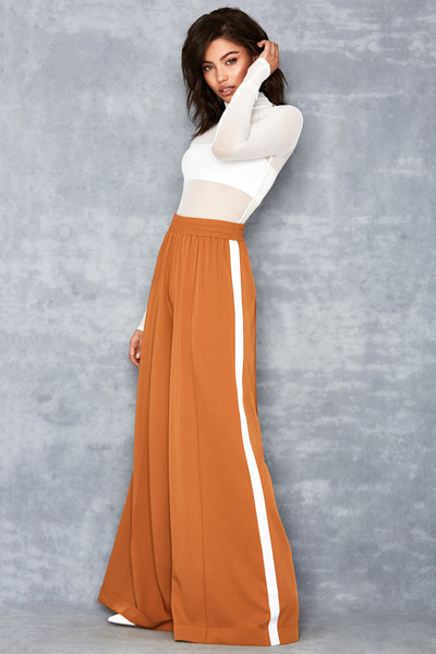 Savvy Tan Super Wide Leg Trousers