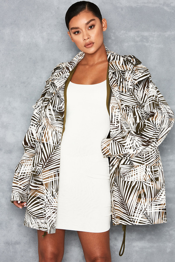 Jump Up Khaki Camo Palm Print Jacket