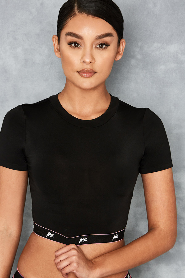 Hitlist Black Banded Cropped Top