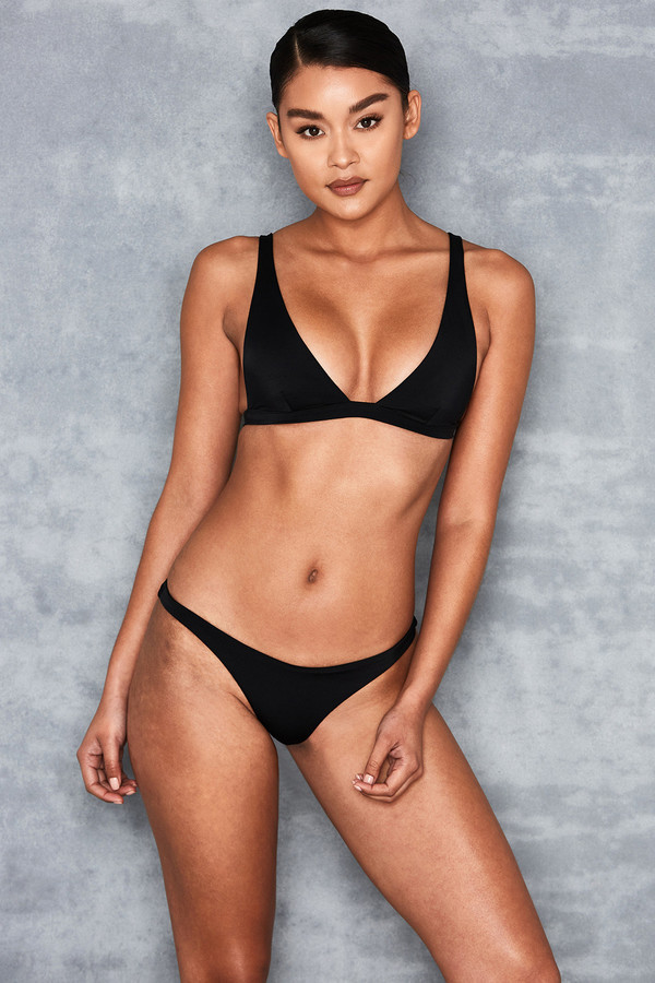 Rangoon Black Ultra Plunge Triangle Bikini