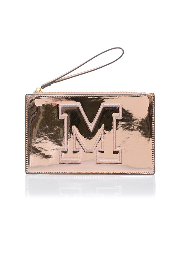Thrill Rose Gold Logo Mini Clutch