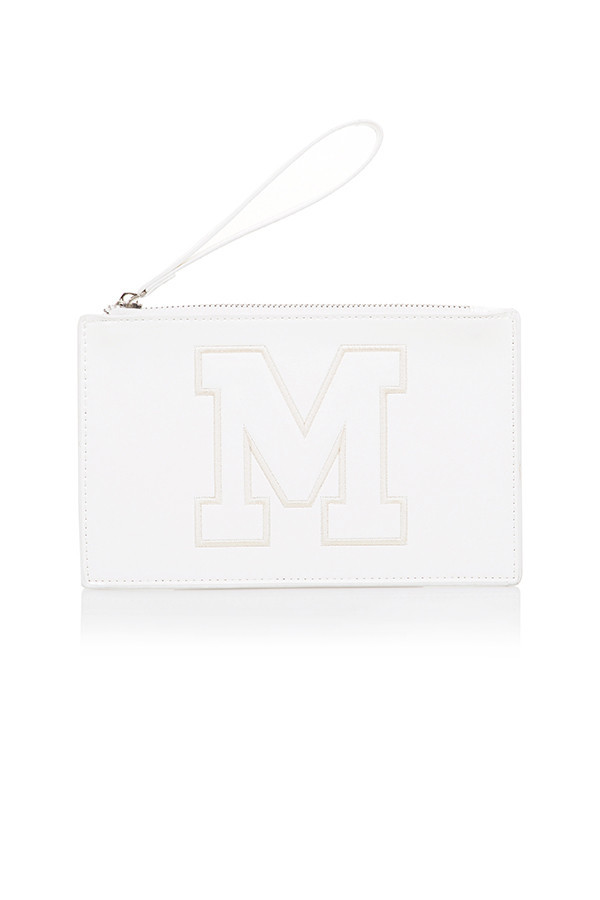 Thrill White Logo Mini Clutch