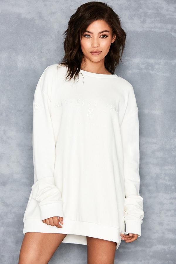 Yas Ivory Oversized Sweatshirt
