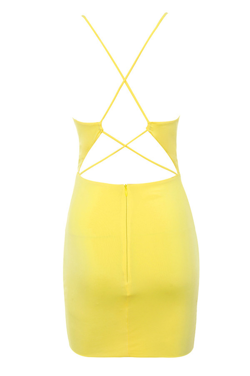 danger zone dress in yellow