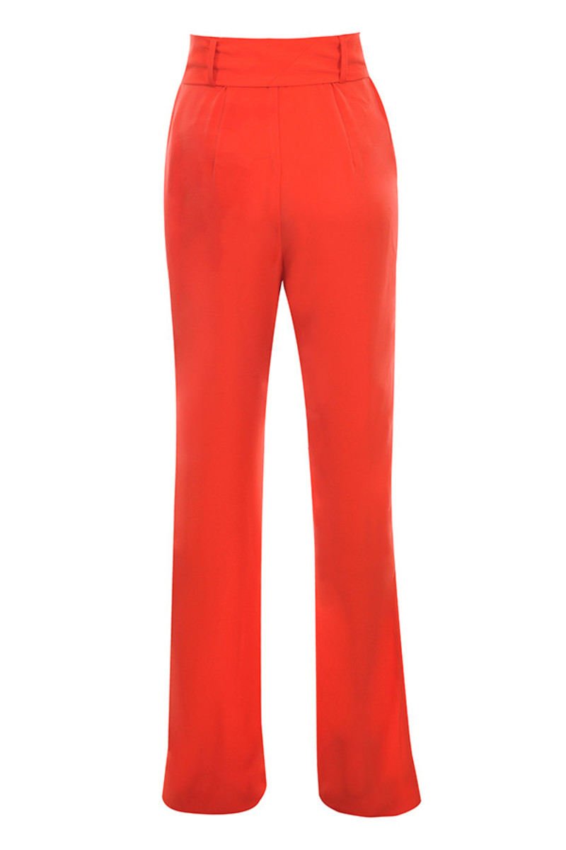 facsinate trousers in red