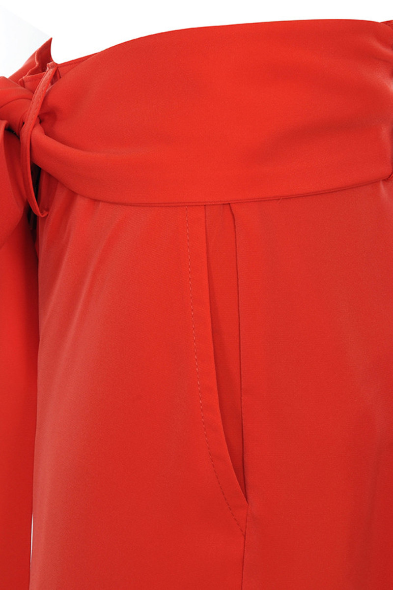 red fascinate trousers