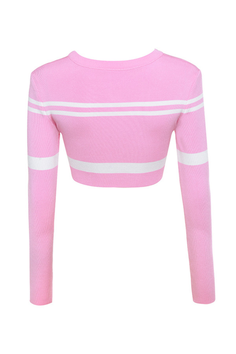 fine tune top in pink
