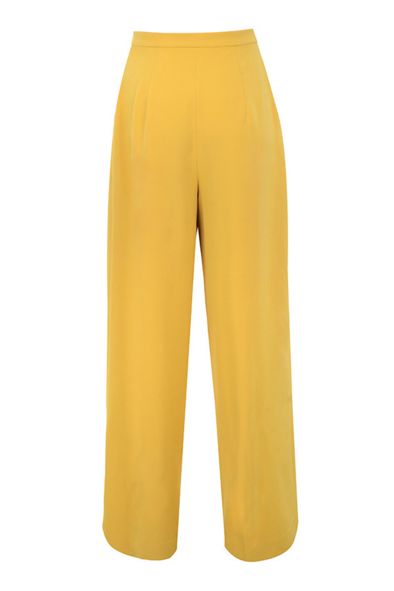 ravish trousers in yellow