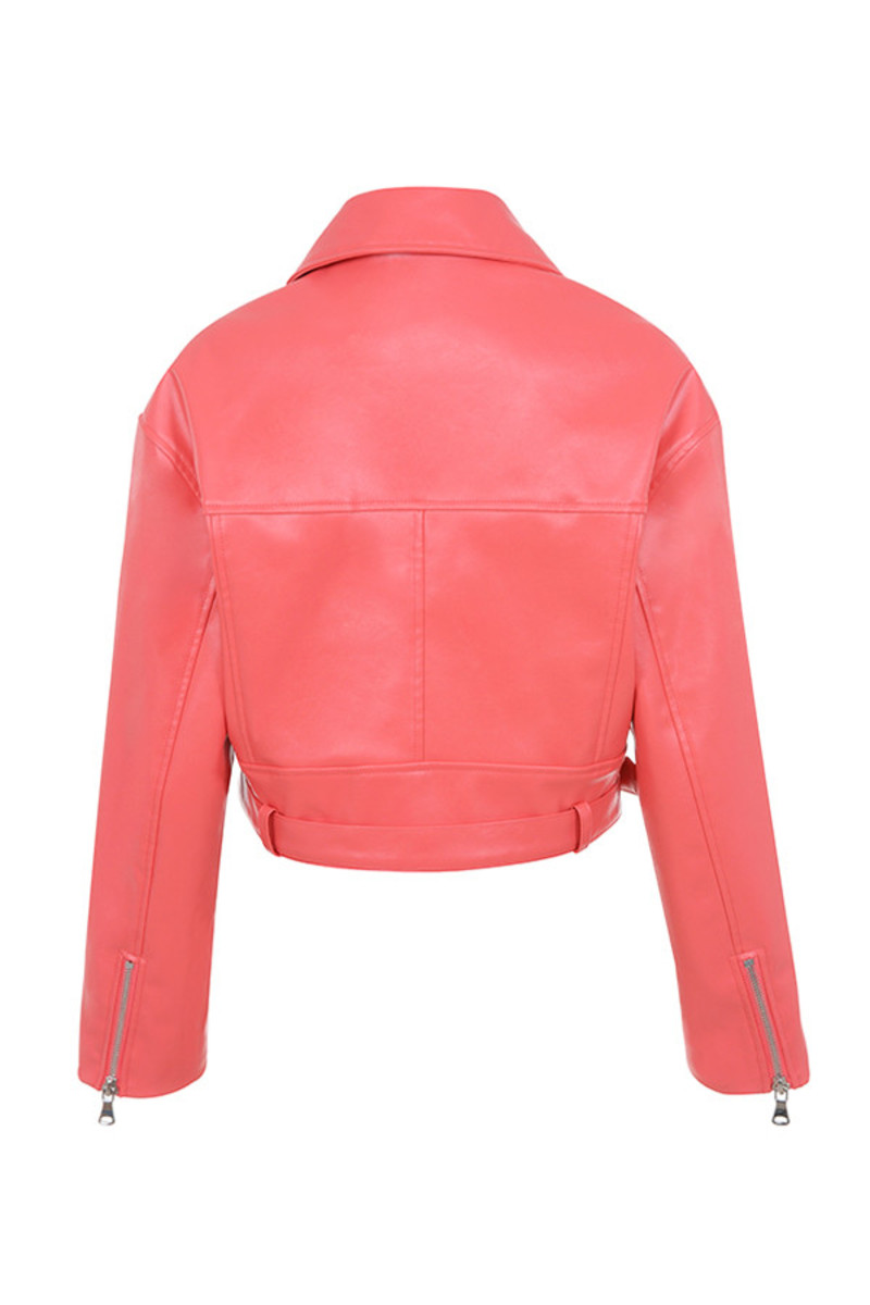 scorch jacket in pink