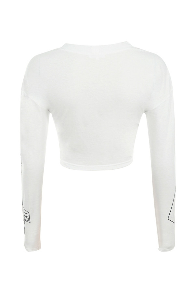 show girl top in white