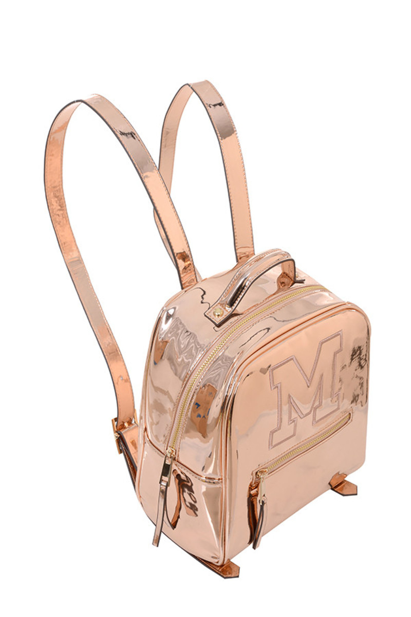 snap bag in rose gold