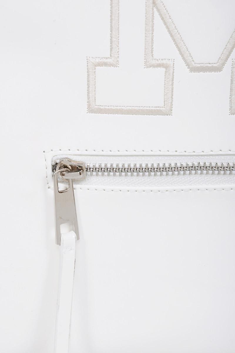 white snap bag